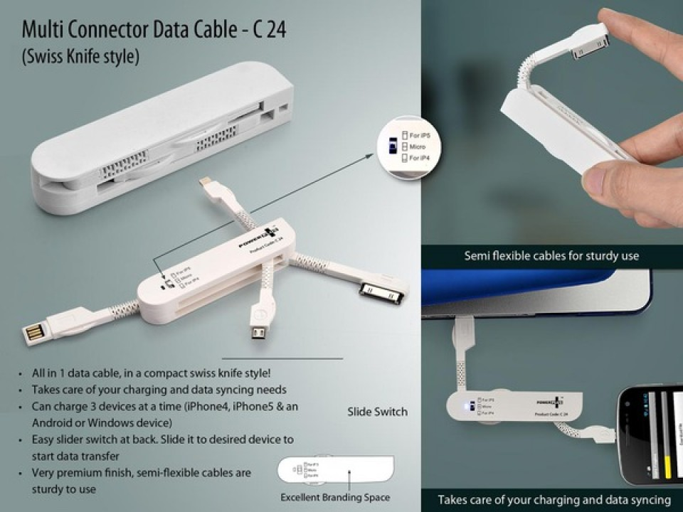 Multi Connector Data Cable Corporate Gifts in price range Rs